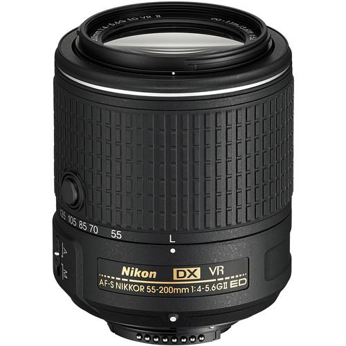 Nikon AF-S DX NIKKOR 55-200mm f/4-5.6G ED VR II Lens (Refurbished)