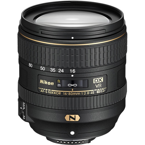 Nikon AF-S DX NIKKOR 16-80mm f/2.8-4E ED VR Lens (Refurbished)