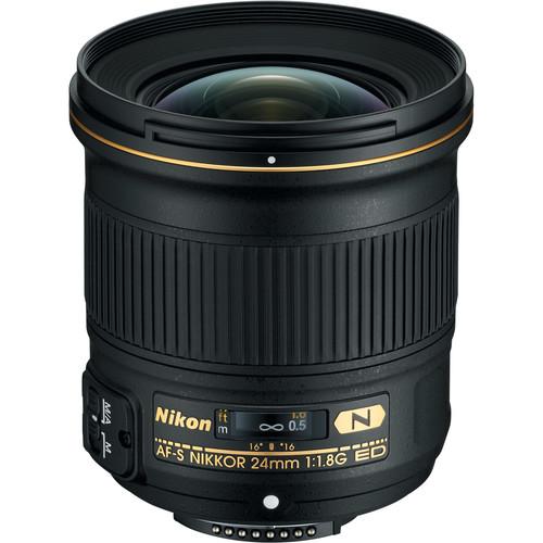 Nikon AF-S NIKKOR 24mm f/1.8G ED Lens (Refurbished)