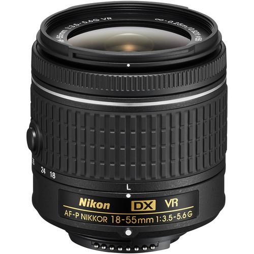 Nikon AF-P DX NIKKOR 18-55mm f/3.5-5.6G VR Lens (Refurbished)