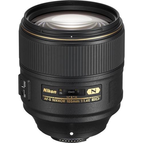 Nikon AF-S NIKKOR 105mm f/1.4E ED Lens (Refurbished by Nikon USA)