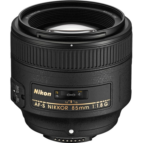 Nikon AF-S NIKKOR 85mm f/1.8G Lens (Refurbished)
