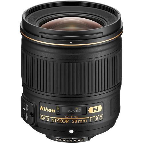 Nikon AF-S NIKKOR 28mm f/1.8G Lens (Refurbished)