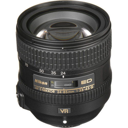 Nikon AF-S NIKKOR 24-85mm f/3.5-4.5G ED VR Lens (Refurbished)