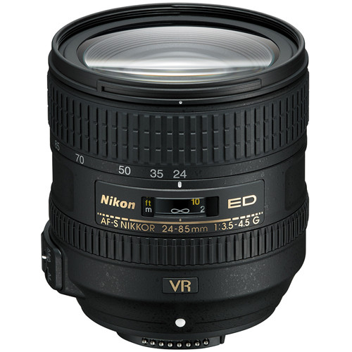 Nikon AF-S NIKKOR 24-85mm f/3.5-4.5G ED VR Lens (Refurbished)