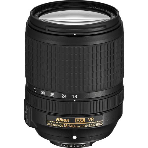 Nikon AF-S DX NIKKOR 18-140mm f/3.5-5.6G ED VR Lens (Refurbished)