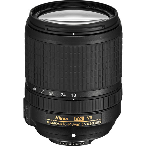Nikon AF-S DX NIKKOR 18-140mm f/3.5-5.6G ED VR Lens (Refurbished)