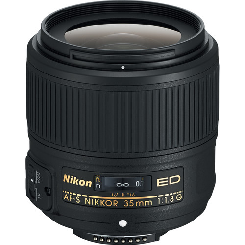 Nikon AF-S NIKKOR 35mm f/1.8G ED Lens (Refurbished)