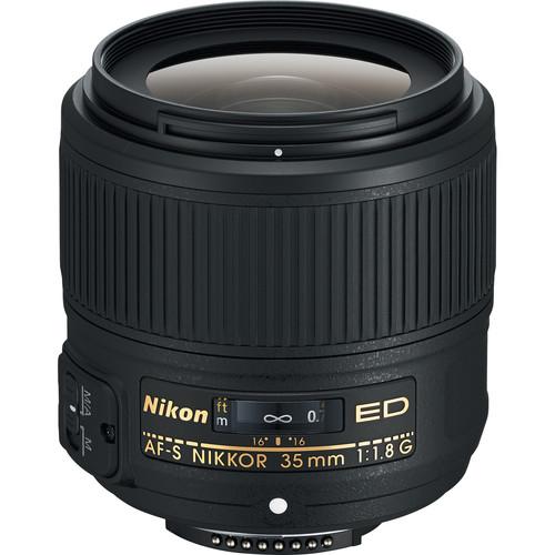 Nikon AF-S NIKKOR 35mm f/1.8G ED Lens (Refurbished)