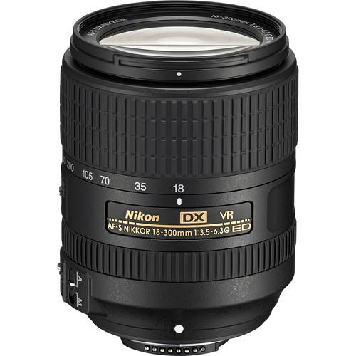 Nikon AF-S DX NIKKOR 18-300mm f/3.5-6.3G ED VR Lens (Refurbished)