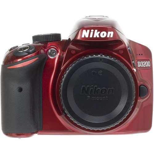 Nikon D3200 Digital SLR Camera Body (Red)
