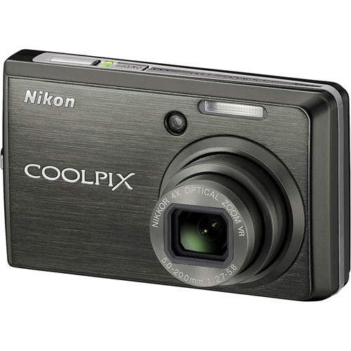 Nikon Coolpix S600 Digital Camera (Slate Black)