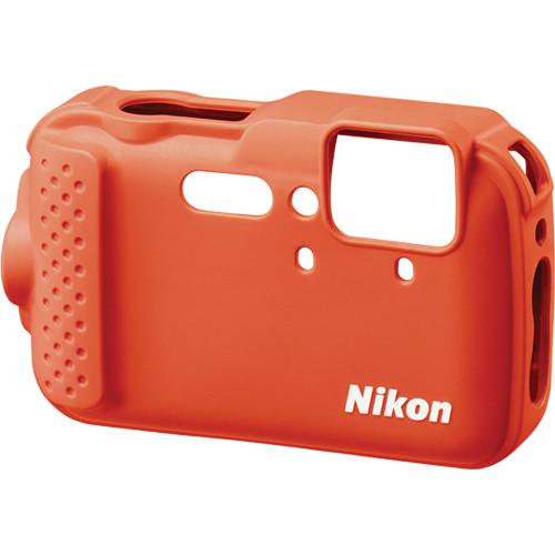 Nikon CF-CP001 Silicone Jacket for COOLPIX AW120 Digital Camera (Orange)