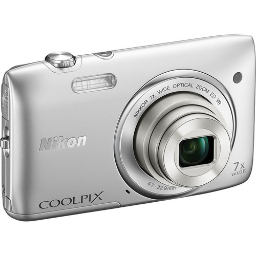 Nikon COOLPIX S3500 Digital Camera (Silver)