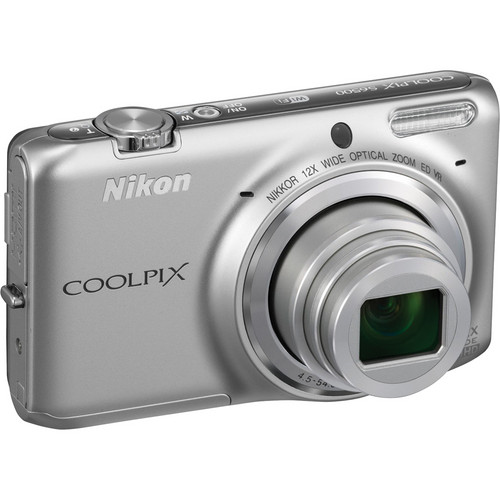 Nikon COOLPIX S6500 Digital Camera (Silver)