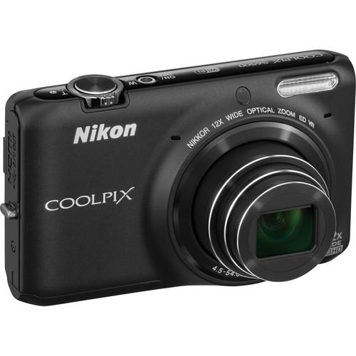 Nikon COOLPIX S6500 Digital Camera (Black)