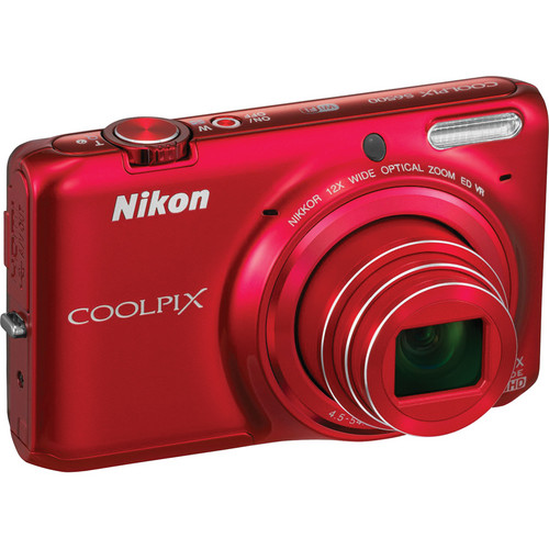 Nikon COOLPIX S6500 Digital Camera (Red)