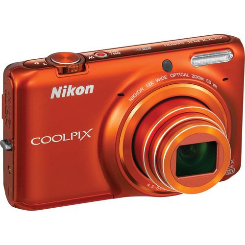Nikon COOLPIX S6500 Digital Camera (Orange)