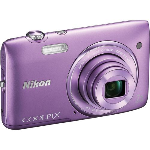 Nikon COOLPIX S3500 Digital Camera (Purple)