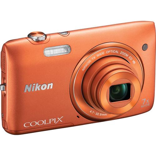 Nikon COOLPIX S3500 Digital Camera (Orange)