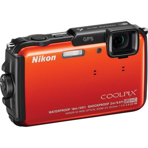 Nikon COOLPIX AW110 Digital Camera (Orange)