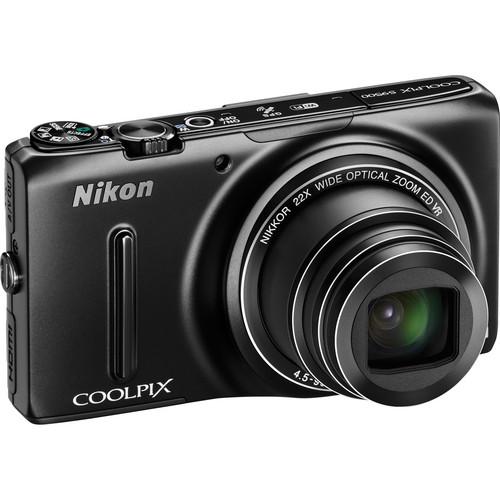 Nikon COOLPIX S9500 Digital Camera (Black)