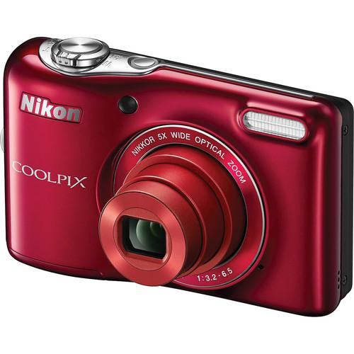 Nikon COOLPIX L30 Digital Camera (Red)
