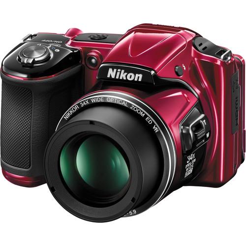 Nikon COOLPIX L830 Digital Camera (Red, Refurbished)