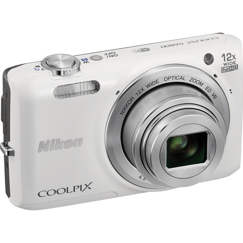 Nikon COOLPIX S6800 Digital Camera (White)
