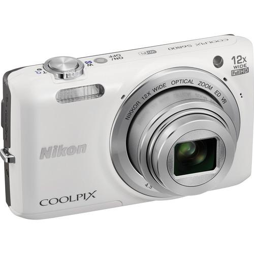 nikon coolpix s6800 digital camera white 26444 b h photo. Black Bedroom Furniture Sets. Home Design Ideas