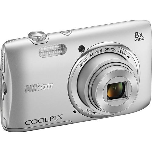 Nikon COOLPIX S3600 Digital Camera (Silver)