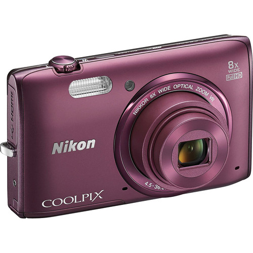 Nikon COOLPIX S5300 Digital Camera (Plum)