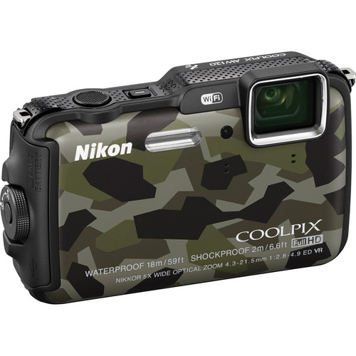 Nikon COOLPIX AW120 Waterproof Digital Camera (Camouflage)