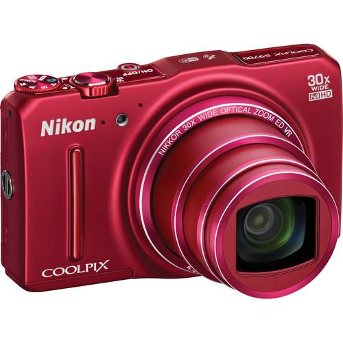 Nikon COOLPIX S9700 Digital Camera (Red)