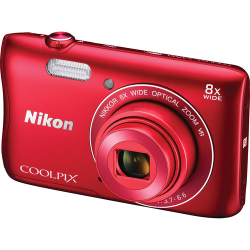 Nikon COOLPIX S3700 Digital Camera (Red)