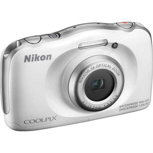Nikon COOLPIX S33 Digital Camera (White, Refurbished)