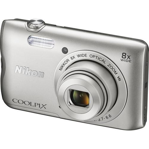 Nikon COOLPIX A300 Digital Camera (Silver)
