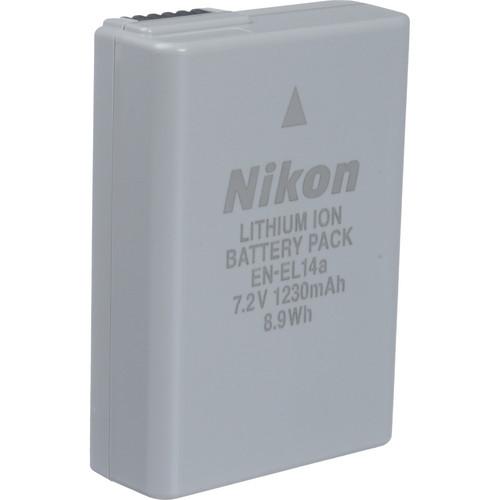 Nikon EN-EL14a Rechargeable Lithium-Ion Battery (7.2V, 1230mAh)