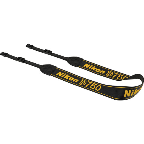 Nikon AN-DC14 Neck Strap for Nikon D750 DSLR Camera (Black)