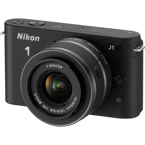 Nikon 1 J1 Mirrorless Digital Camera with 10-30mm VR Zoom Lens (Black)