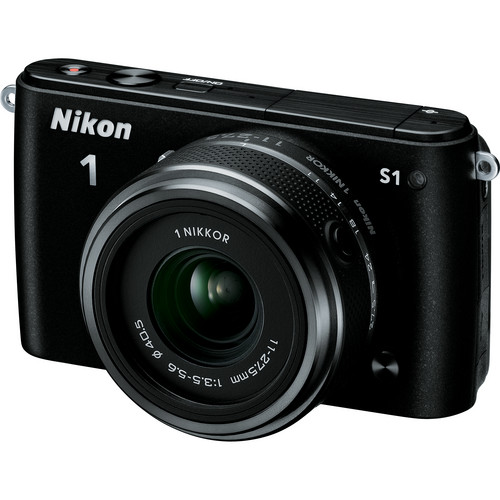 Nikon 1 S1 Mirrorless Digital Camera with 11-27.5mm Lens (Black)