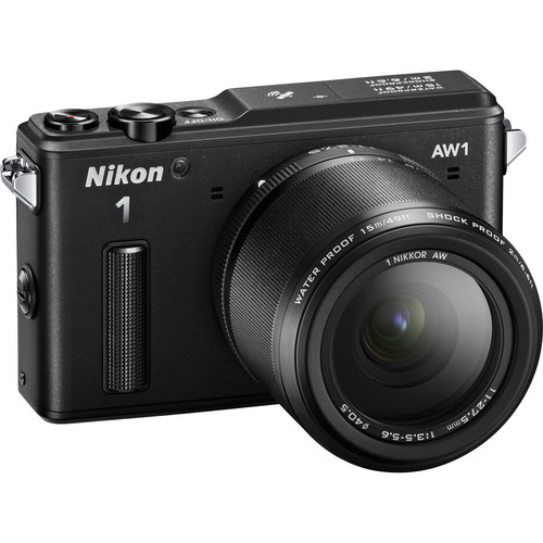 Nikon 1 AW1 Mirrorless Digital Camera with 11-27.5mm Lens (Black)