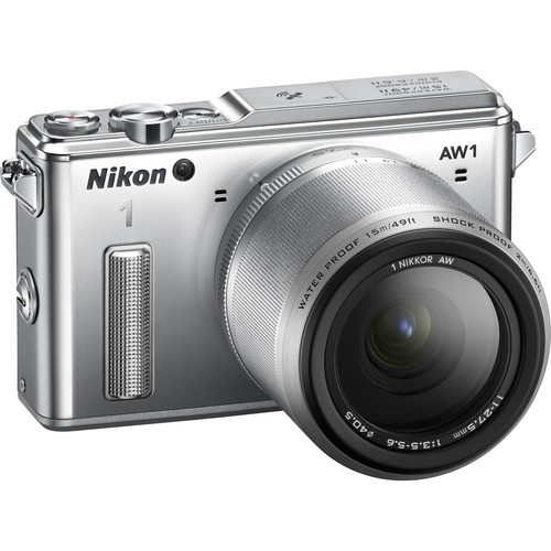 Nikon 1 AW1 Mirrorless Digital Camera with 11-27.5mm Lens (Silver)
