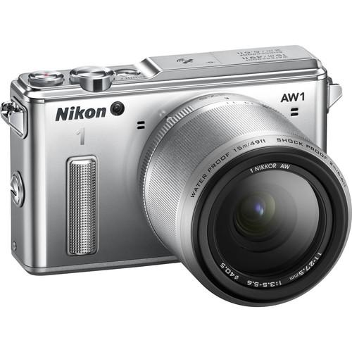 Nikon 1 AW1 Mirrorless Digital Camera with 11-27.5mm Lens (Silver)