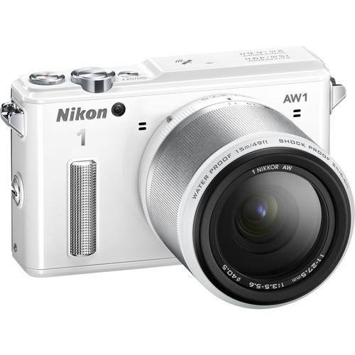 Nikon 1 AW1 Mirrorless Digital Camera with 11-27.5mm Lens (White)