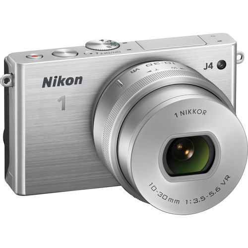 Nikon 1 J4 Mirrorless Digital Camera with 10-30mm Lens (Silver)