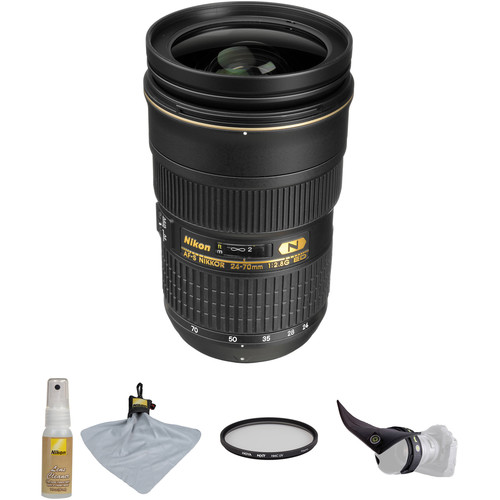 Nikon AF-S 24-70mm f/2.8G ED Lens with Accessory Kit
