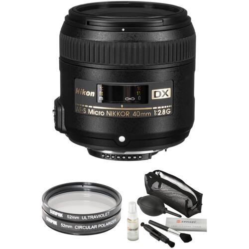 Nikon AF-S DX Micro-NIKKOR 40mm f/2.8G Lens with Accessory Kit