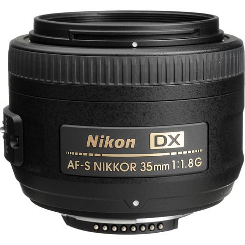 Nikon AF-S DX NIKKOR 35mm f/1.8G Lens with Accessory Kit