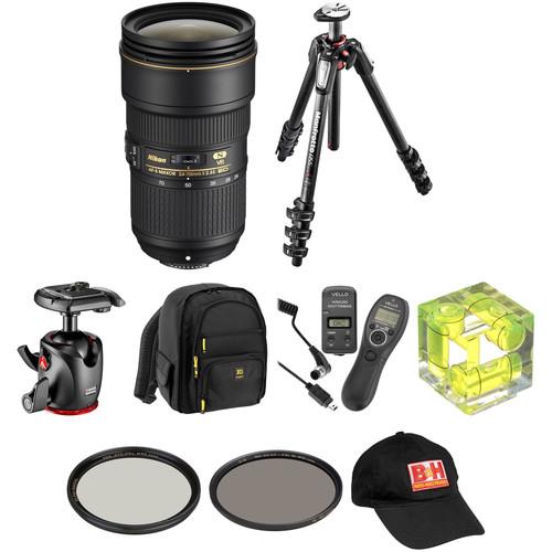 Nikon AF-S NIKKOR 24-70mm f/2.8E ED VR Lens Landscape Kit